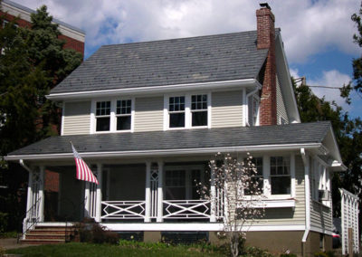 Vermont Strata Gray slate installed with Nu-Lok lightweight slate installation