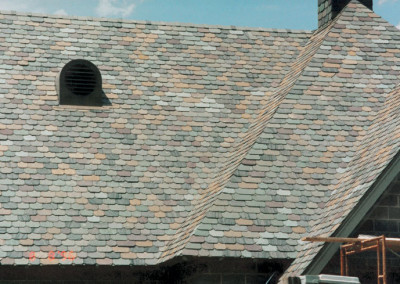 Clipped Corner Slate Roof