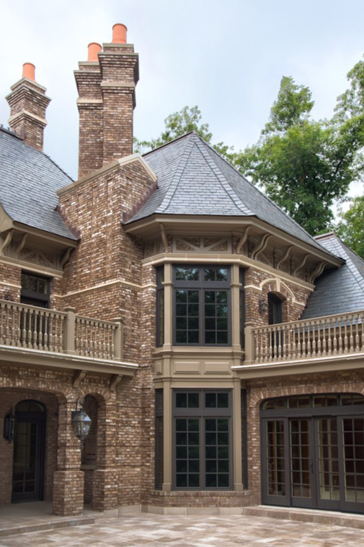 Grand Residence with Vermont Gray Black slate