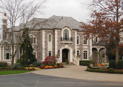 Gray and Green Slate Blend on a Grand Residence