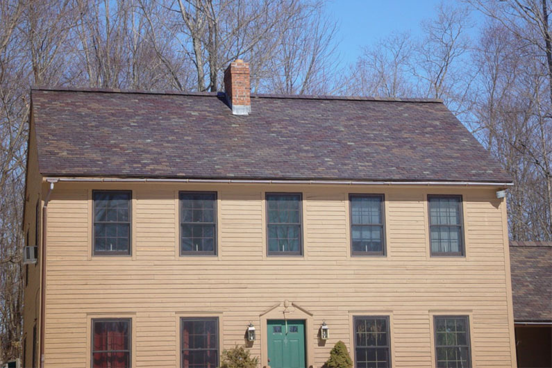 Colonial New Construction Random Width Slate Roof