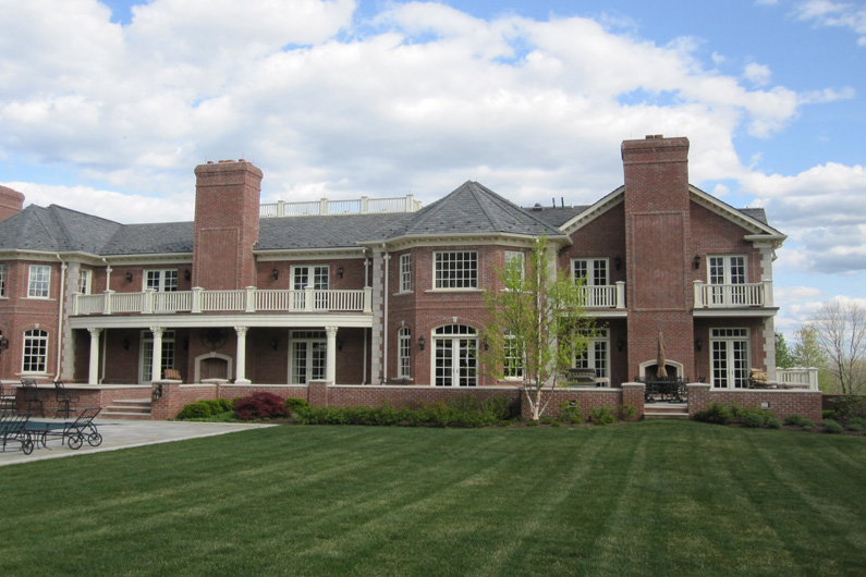 New Jersey Estate Slate Roof Blend of Gray