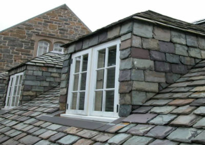 Historic Slate Roof Repair: Heavy Grade, Random Width Graduated Slate Roof