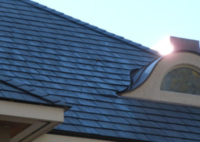 Slate Detail Around Curved Dormer