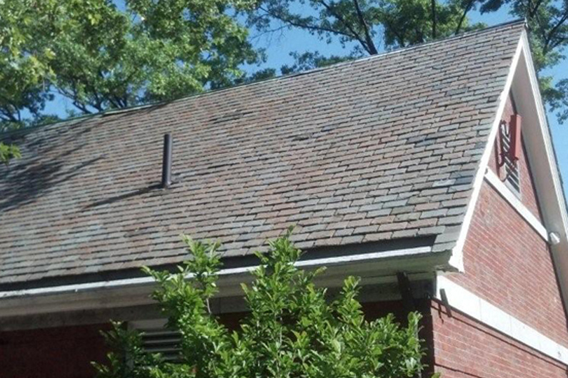 Vermont Clear gray slate roof