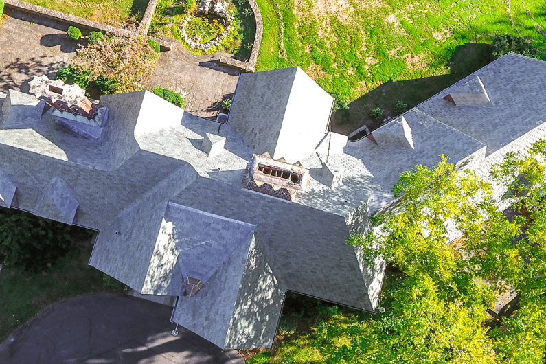 Pennsylvania Conference Center with large Vermont slate roof
