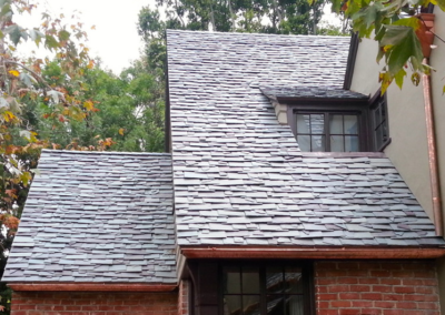 Dutch Lap Pattern Slate Roof Installation in Hancock Park
