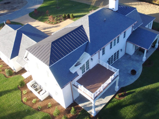 A Greenstone Slate® Vermont Gray Black roof is installed using the SlateTec™ installation system