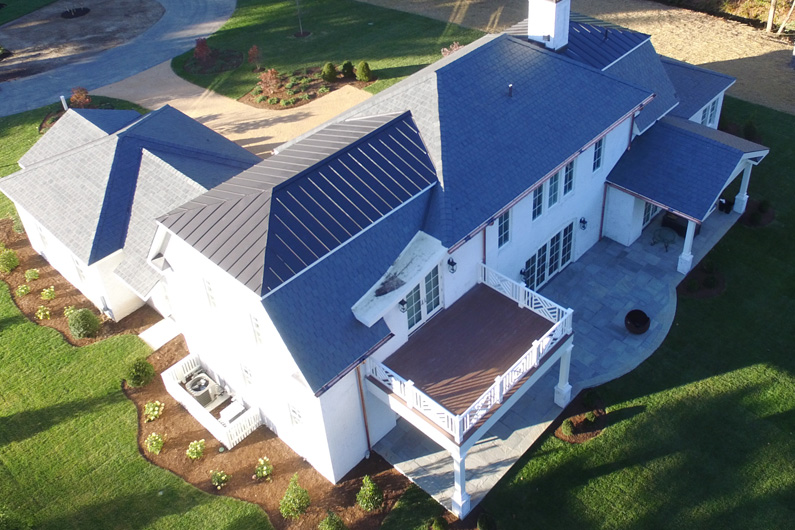 Project Profile: A Greenstone Slate® Vermont Gray Black roof is installed using the SlateTec™ installation system