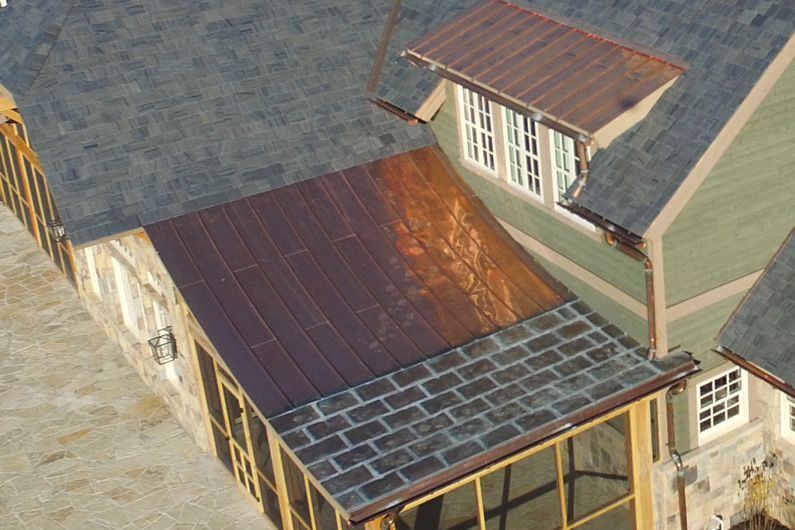 Greenstone Slate Vermont Strata Gray slate with SlateTec weight-reducing slate installation method