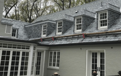 Project Profile: Graduated, random width slate roof and slate cladding for New Jersey residence